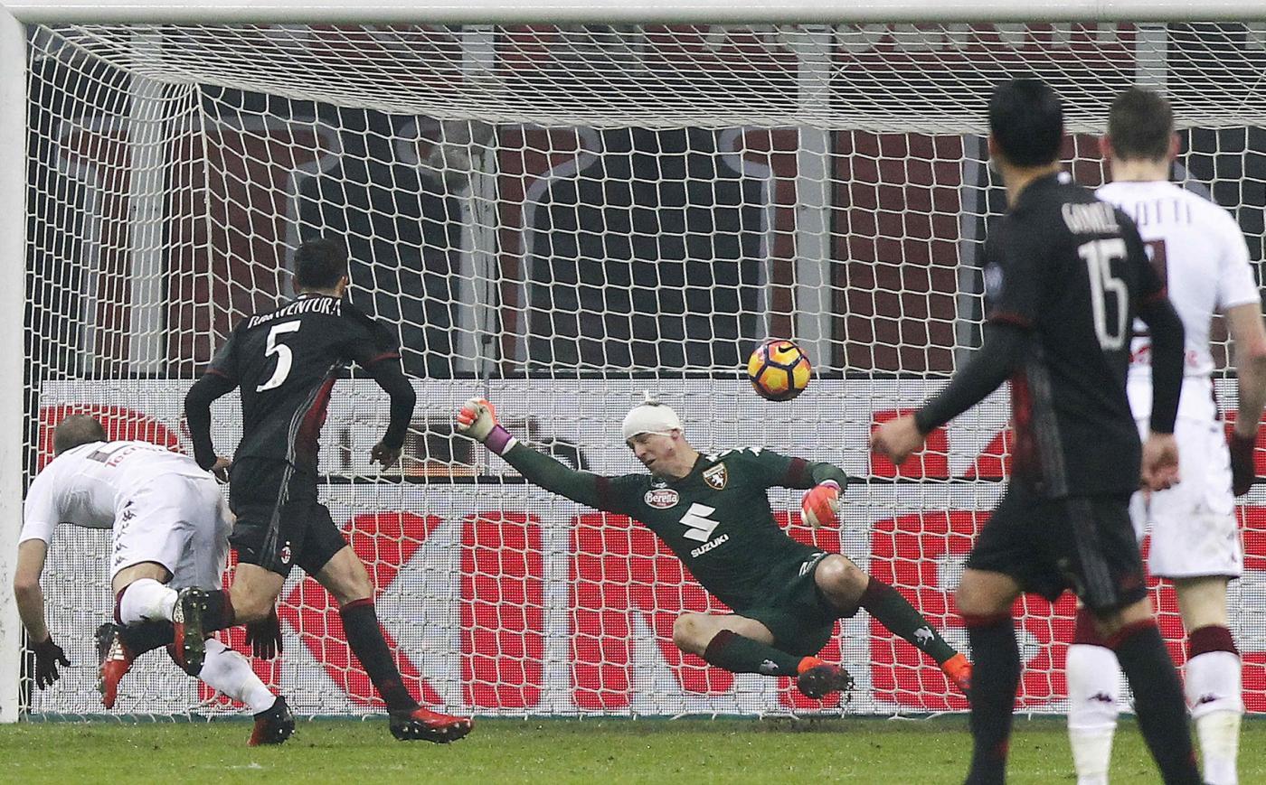 "Foto LaPresse/Spada12 Gennaio 2017 Milano (Italia) Sport Calcio Milan vs Torino - Coppa Italia TIM CUP 2016/2017ʭ Stadio ""Giuseppe Meazza"" Nella foto : Bonaventura gol 2-1Photo LaPresse/SpadaJanuary 12 , 2017 Milan (Italy)Sport SoccerMilan vs Torino - Italian Cup TIM CUP 2016/2017 - ""Giuseppe Meazza"" Stadiumʉn the pic: Bonaventura goal 2-1"