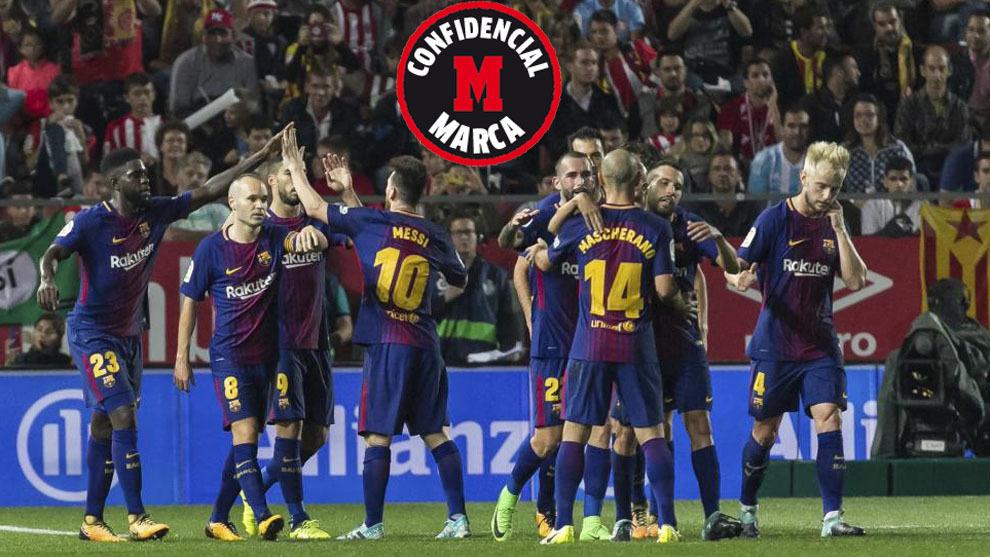 23,9,2017 Partido de liga entre el GIRONA FC 17/18 -  FC BARCELONA  17/18. JORNADA 6  En el   Estadio de Montilivi de Girona. JORNADA 6