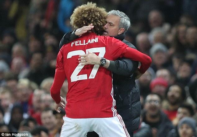 Fellaini Mourinho