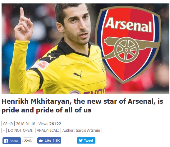 Henrikh Mkhitaryan oo ugu danbayn heshiis la gaaray Arsenal (Imisa sano ayuu u saxiixayaa?)