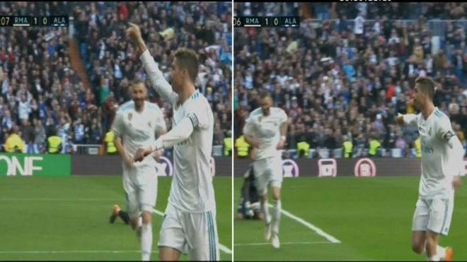 Ronaldo oo amar siiyey jamaahiirta Bernaeu kaddib markii uu dhaliyey mid ka mida goolashiisii….Haloo sacbiyo…….?