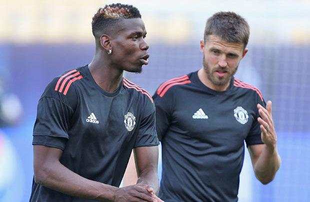 Michael Carrick oo ka hadlay mustaqbalka Paul Pogba ee kooxda Manchester United
