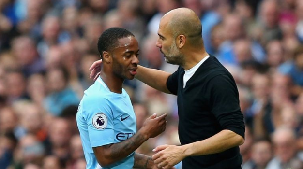 Image result for Pep Guardiola and Raheem
