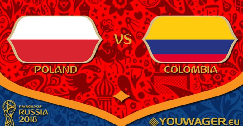Shaxda rasmiga ah ee Poland vs Colombia (James oo ku soo bilowday)