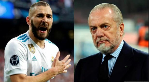 Karim Benzema oo ku tilmaamay madaxweynaha kooxda Napoli mid waalan