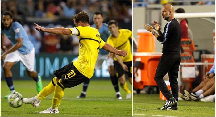 Manchester City oo Guuldaro ku Daah furatay Tartanka Saaxiibtinimo ee International Champion Cup+SAWIRRO