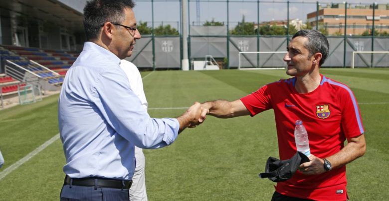 Waqtiga Barcelona ay heshiiska cusub ka saxiixayso tababare Valverde oo la ogaaday