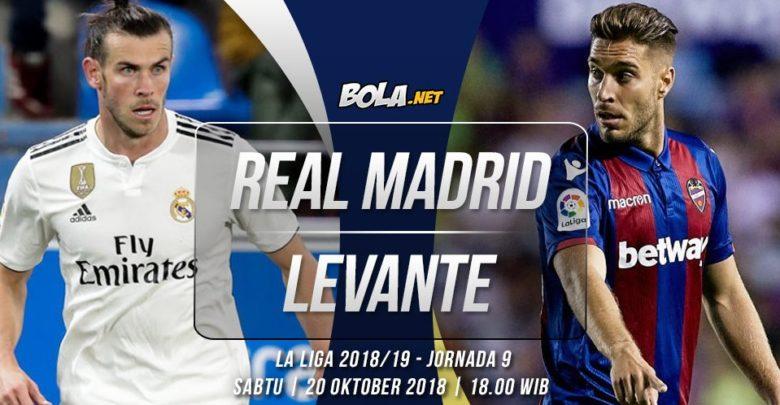 Shaxda rasmiga ah ee Real Madrid vs Levante (Lopetegui oo isbadal wayn sameeyay)
