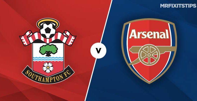 Shaxda rasmiga ah ee Southampton vs Arsenal (Gunners oo wajahaysa dhibaato dhanka difaaca ah)