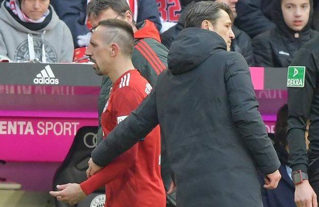Franck Ribery oo ka carooday beddelkii lagu sameeyay salaantana ka qaadi waayay tababare Kovac