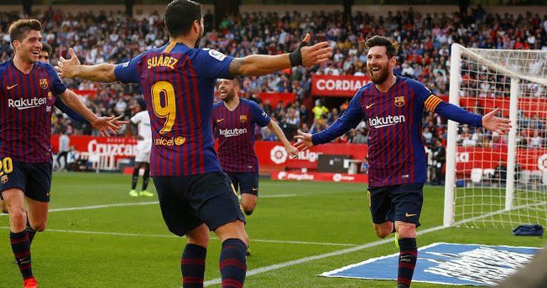Barcelona oo guul soo labasho leh ka gaartay kooxda Sevilla +Sawiro