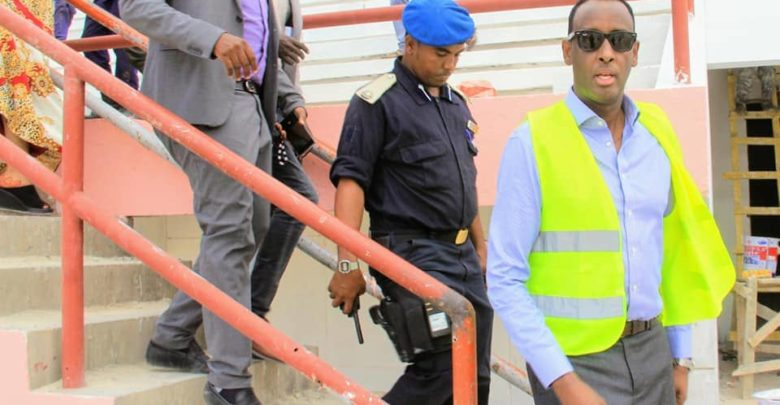 Maamulka Gobolka Banaadir oo booqasho ku tagay Stadium Muqdisho…. +SAWIRRO