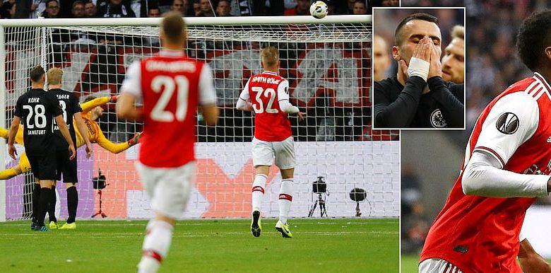 Arsenal oo guul raaxo leh ka soo gaartay kooxda Eintracht Frankfurt … +SAWIRRO
