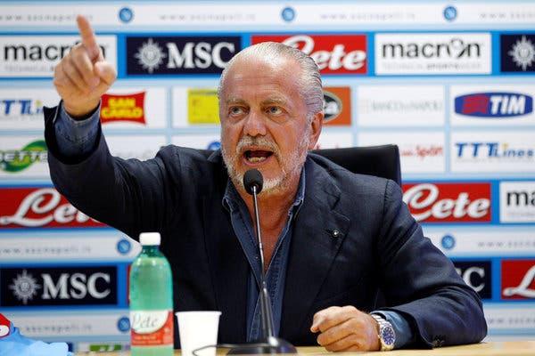 Man United oo war fiican ka heleysa Madaxweynaha kooxda Napoli ee Aurelio De Laurentiis