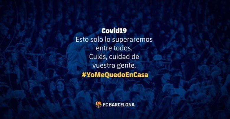 Kooxda Barcelona oo maaskarooyinka wajiga ugu deeqday waaxda caafimaadka Catalonia