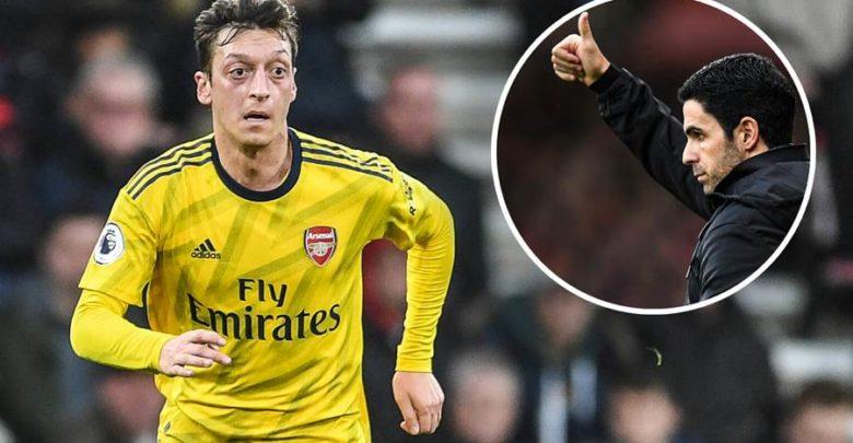 Mikel Arteta oo sare u qaaday shakiga ku jira mustaqbalka Mesut Özil ee kooxda Arsenal