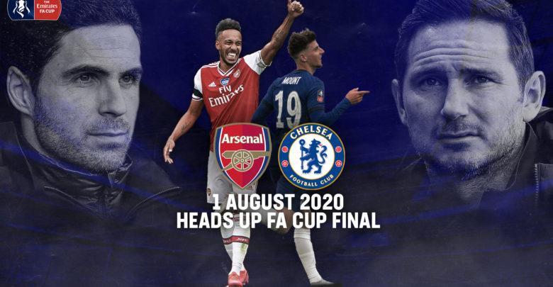 Shaxda rasmiga ah kulanka kooxaha Arsenal iyo Chelsea ee Finalka FA Cup-ka oo la shaaciyay