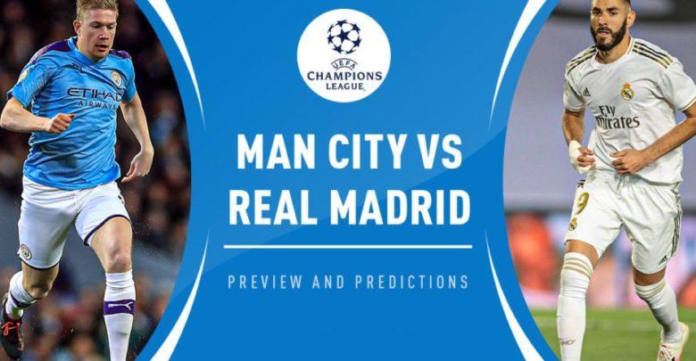 Shaxda rasmiga ah kulanka Champions League ee Kooxaha Manchester City iyo Real Madrid oo la shaaciyay