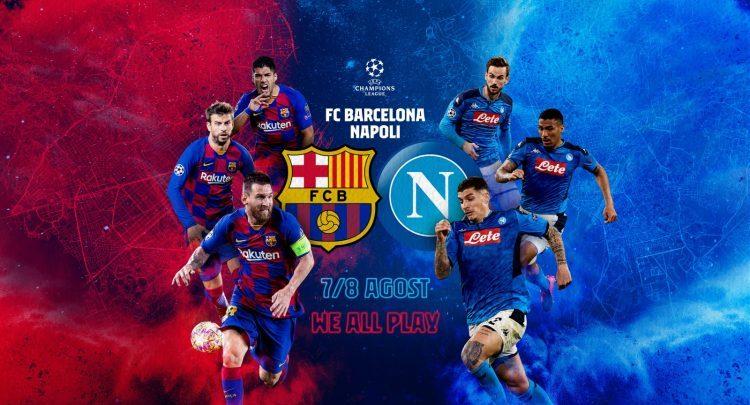 Shaxda rasmiga ah kulanka Champions League ee kooxaha Barcelona iyo Napoli oo la shaaciyay