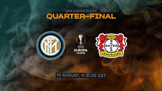 Shaxda rasmiga ah kulanka Europa League ee Kooxaha Inter Milan iyo Bayer Leverkusen oo la shaaciyay