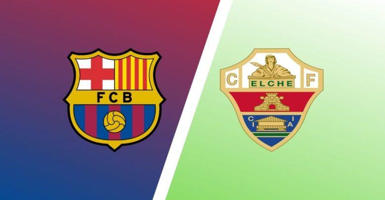 Shaxda rasmiga ah kulanka Kooxaha Barcelona iyo Elche ee horyaalka La Liga oo la shaaciyey