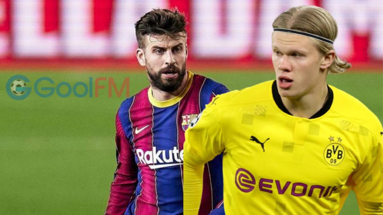 """Gerard Pique: """"Waxaan rajaynayaa in Erling Haaland uu imaan doono Barcelona"""""""